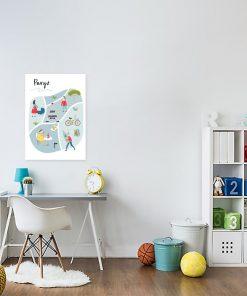 plakat dziecięcy przedstawiający Paryż