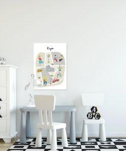 plakat dla dziecka z motywem miasta