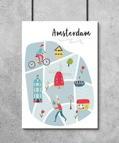 plakat dla dziecka ze stolicą Holandii