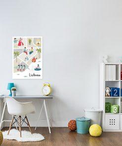 plakat przedstawiający lizbonę