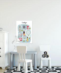 plakat z motywem Londynu do pokoju dziecka