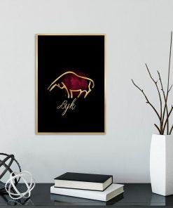 plakat na ścianę ze znakiem byka
