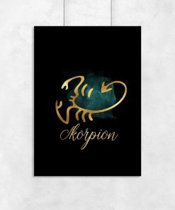plakat na ścianę przedstawiający znak zodiaku - skorpion
