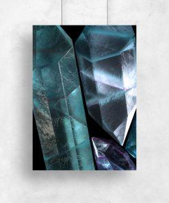 plakat z kryształami