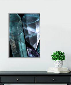plakat salonowy z motywem kryształów