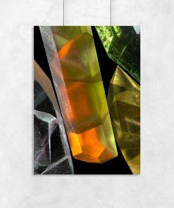 plakat z minerałami