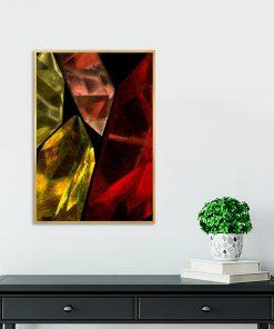 plakat salonowy z kryształami