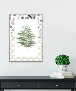 plakat na ścianę do salonu z motywem liścia