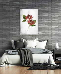 plakat do sypialni z motywem kwiatów