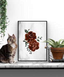 plakat na ścianę z motywem pąków róż