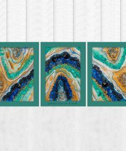 tryptyk z abstrakcją