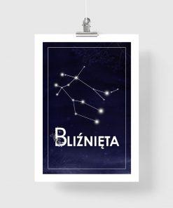 plakat z konstelacją