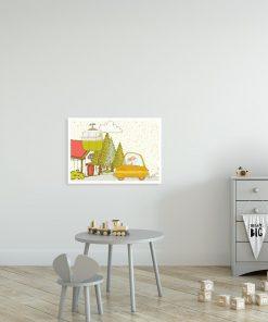 plakat z królikami