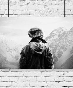 plakat przedstawiający krajobraz