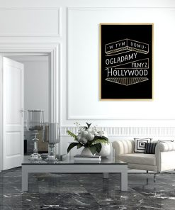 plakat z motywem hollywood