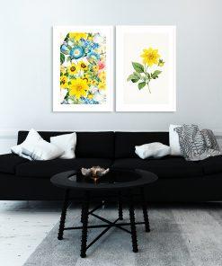 plakat do salonu z kwiatami