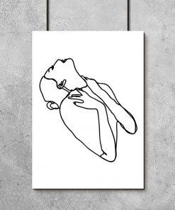 plakat z motywem kobiety