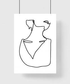plakat z minimalistycznym wzorem