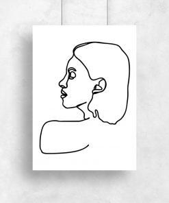 plakat z motywem rysunku z linii