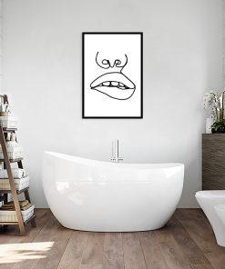 plakat do łazienki z ustami