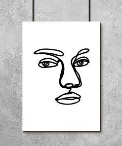 plakat z twarzą mężczyzny