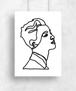 plakat z rysunkiem liniowym