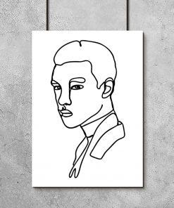 plakat przedstawiający mężczyznę z linii