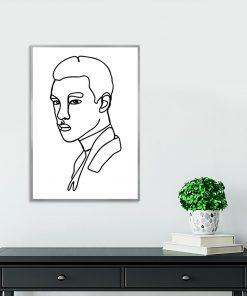 plakat z motywem mężczyzny