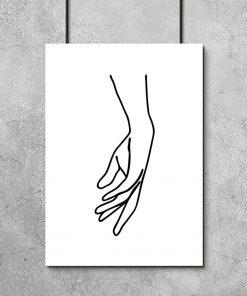 plakat z rysunkiem dłoni