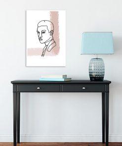 plakat minimalistyczny z mężczyzną