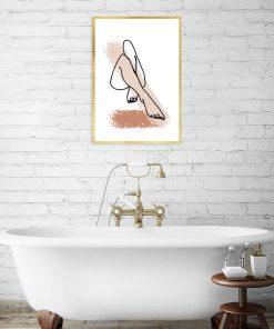 plakat z kobiecymi nogami