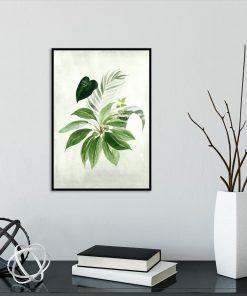 plakat z zielonymi liści