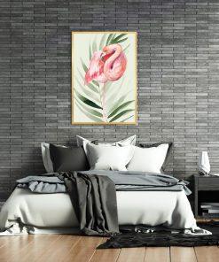 plakat sypialniany z motywem tropikalnym