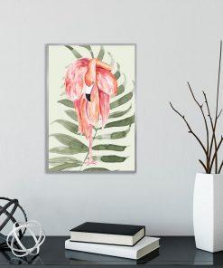 plakat z tropikalnym liściem