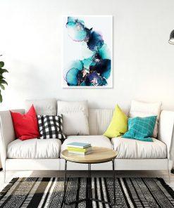 plakat z abstrakcyjnym wzorem do salonu