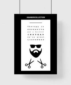 plakat z napisem o barberze