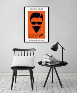 plakat do salonu barberskiego