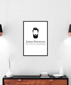 plakat z motywem brody