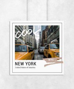 plakat przedstawiający Nowy Jork