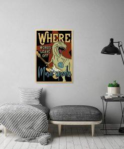 plakat z dinozaurem
