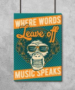 plakat z motywem pasji do muzyki