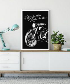 plakat z motywem motoryzacji