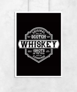 plakat z etykietą whiskey
