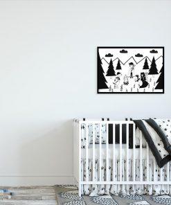 plakat z dziewczynką ze zwierzętami