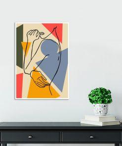 kobieta line art jako plakat