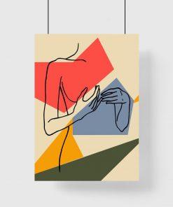 minimalistyczny plakat ścienny