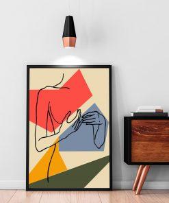 dekoracja line art