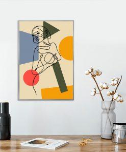 plakat kolorowy line art