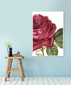 dekoracja z czerwoną różą