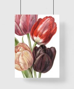 pionowa dekoracja tulipanowa